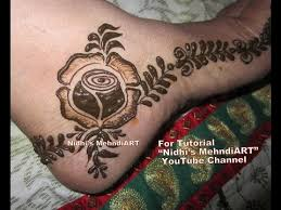 beautiful rose feet henna mehndi designs border tutorial for