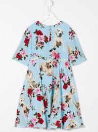 dolce u0026 gabbana kids dog print floral dress 756 buy aw17 online