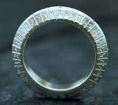 stargate wedding ring stargate sg 1 inspired sterling silver ring wedding ring set with