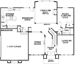 Two Storey Floor Plans Two Story Foyer And Family Room 13415by Architectural Designs