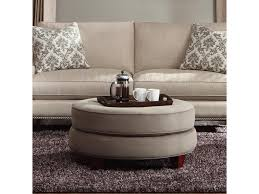 Klaussner Coffee Table by Klaussner Duchess Transitional Double Disc Stacked Cushion Ottoman