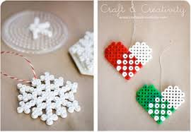 melty bead ornaments things to make and do crafts and