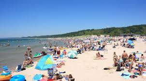 Michigan beaches images Pentwater public beach jpg