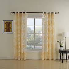 two panels curtain country living room polyester material sheer