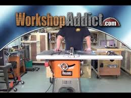 ridgid 13 10 in professional table saw ridgid r4512 table saw folding outfeed table and 11 month review