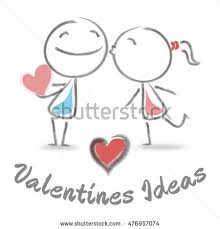 valentines ideas meaning plans celebration stock