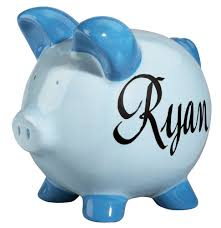 monogrammed piggy bank piggy banks for boys 5 awesome choices gifts for kids