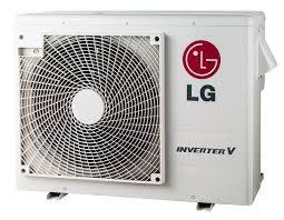 ductless mini split concealed lg 18000 btu 2 zone mini split air conditioner lmu18chv w heat