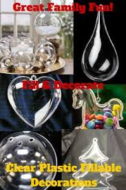 clear acrylic fillable teardrop ornament acrylics larger and