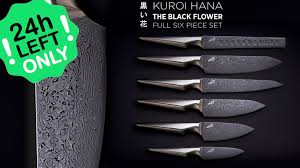 premium kitchen knives kuroi hana knife collection japanese steel by edge of belgravia