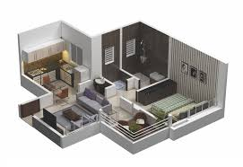 floor plan 3d house building design 1 room house plan 3d house plans