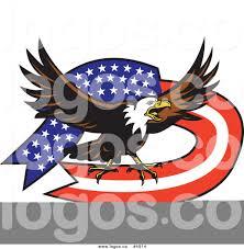 Bald Eagle On Flag Royalty Free Vector Of A Bald Eagle American Flag Logo By