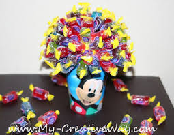 my creative way mickey mouse centerpiece candy bouquet
