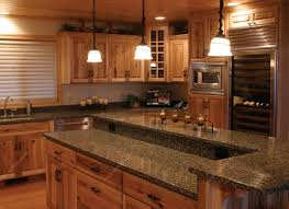 granite countertop continental kitchen cabinets copper sheet