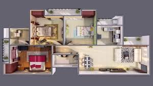 Three Bedroom House Interior Designs 3 Bedroom House Plan With Basement