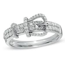 Zales Wedding Rings For Her by 1 4 Ct T W Diamond Belt Buckle Ring Style R I N G S