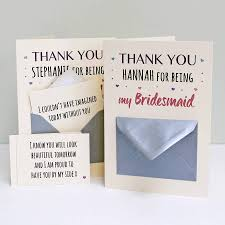 thank you bridesmaid cards bridesmaid thank you secret messages card by martha brook