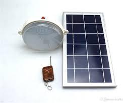 Indoor Solar Lights by 2017 450lm 6v 8w Solar Panel Remote Control 18 Led Solar Led Lamp