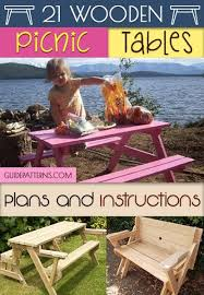 Free Plans Round Wood Picnic Table by 21 Wooden Picnic Tables Plans And Instructions Guide Patterns