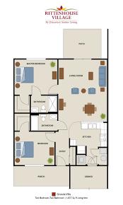 upstairs floor plans senior living floor plans rittenhouse village at portage