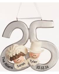 anniversary ornament new savings on personalized christmas ornament 25th anniversary