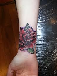 old rose color tattoo by marleytattooart on deviantart