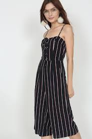 lace up jumpsuit mds flap lace up jumpsuit in navy stripes