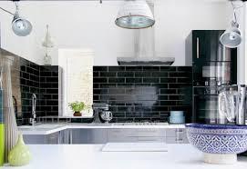 black subway tile kitchen backsplash popular kitchens the brilliant black subway tile kitchen