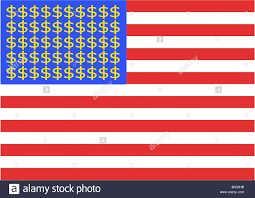 Us Flag Facts U S Flag Dollar Signs Red Knows America Flag Ensign Strips Stock