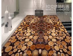 free shipping custom mural 3d pvc floor painting wallpaper tree