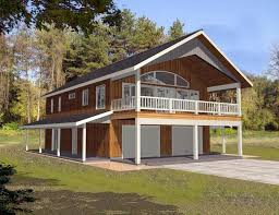 cabin plans with garage garage plan 85372 at familyhomeplans com
