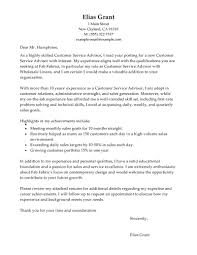 customer service cover letter experience resumes