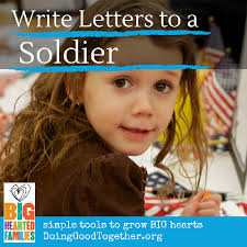 write letters to a soldier u2014 doing good together