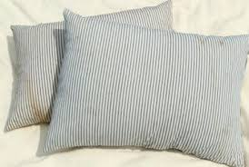 Large Bed Pillows Vintage Ticking Feather Pillows U0026 Ticks