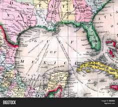 Map Gulf Of Mexico by Antique Map Of Gulf Of Mexico Stock Photo U0026 Stock Images Bigstock