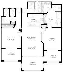 2 Bedroom Condo Floor Plan Two Bedroom Condo Floor Plans At Pdm