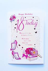 happy 18th birthday card 18 today for her female verse poem