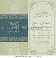 wedding invitation cards baroque style blue stock vector 115790059