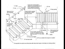 stair deck railing height stair railing height on deck youtube