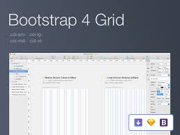 bootstrap 4 grid freebie sketch 72pxdesigns