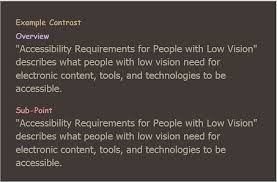 How Do Blind People See Accessibility Requirements For People With Low Vision