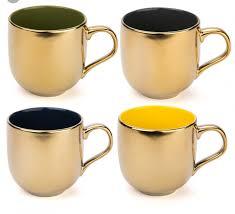 desert gold tea coffee mugs gift set yedi houseware desert