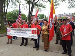 Vietnamese Freedom Flag Lao Heritage And Freedom Flag A Voice For The Laotian Who Do Not