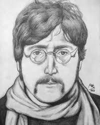 i finished drawing john lennon from early u002767 beatles