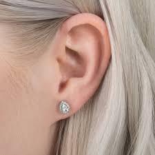 teardrop stud earrings pandora radiant teardrops stud earrings 296252cz greed