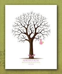 baby shower fingerprint tree custom baby shower fingerprint tree personalized baby