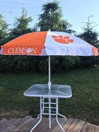 Lightweight Beach Parasol Clemson Tigers 8 0 Ft Patio Tailgate Umbrella