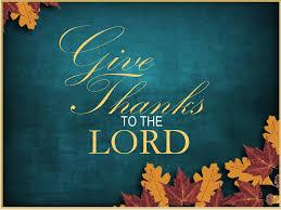 thanksgiving evening worship