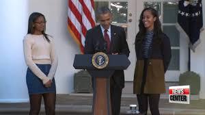 obama thanksgiving turkey obama pardons turkey on thanksgiving 오바마 추수감사절 칠면조