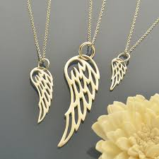 grandmother granddaughter necklace set of angel wing necklaces favoriterunshop
